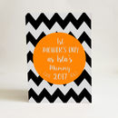 1st Mother's Day Chevron A5 Card