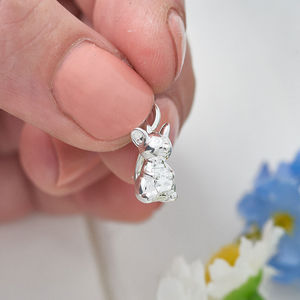 Mouse Solid Sterling Silver Charm - charm jewellery