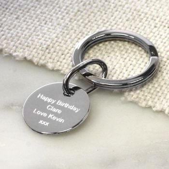 Personalised Silver Key Fob
