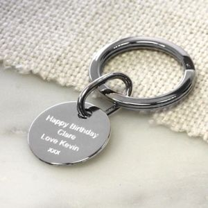 Personalised Silver Key Fob - metal keyrings