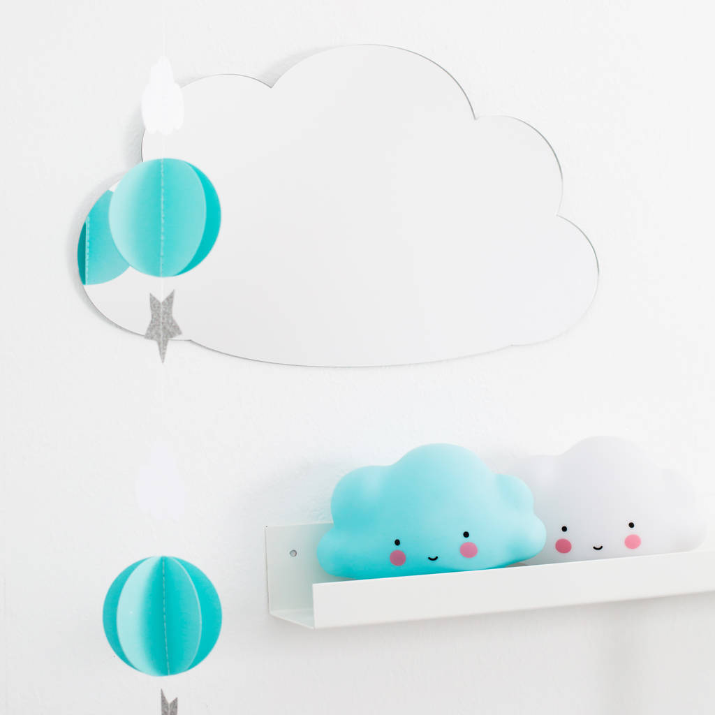 Childrens mirrors notonthehighstreet cloud shaped childrens acrylic mirror mirrors amipublicfo Choice Image