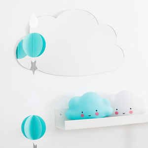 Cloud Shaped Childrens Acrylic Mirror - summer sale