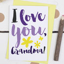 I Love You Grandma, Mother's Day Card