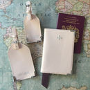 Pink Leather Passport Cover Luggage Tags