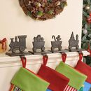 Family Of Four Train Christmas Stocking Hangers