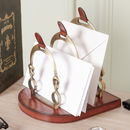 Luxury Brass Equestian's Jumping Gate Letter Rack