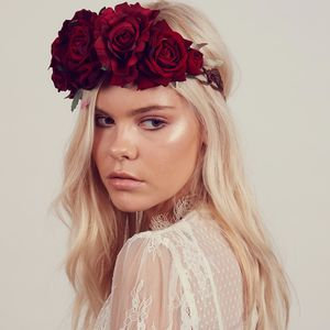 Beatrice Oversized Floral Crown Headband - head pieces