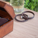 Personalised Leather Watch Box Small With Curved Lid