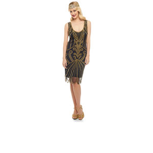 Roaring 20s Inspired Flapper Dress - flapper dresses