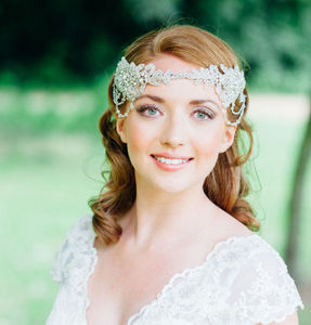 Lola 1920's Style Head Dress - bridal hairpieces