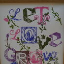 Let Love Grow Botanical Print