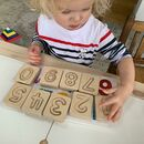 Natural Wooden Number Tiles