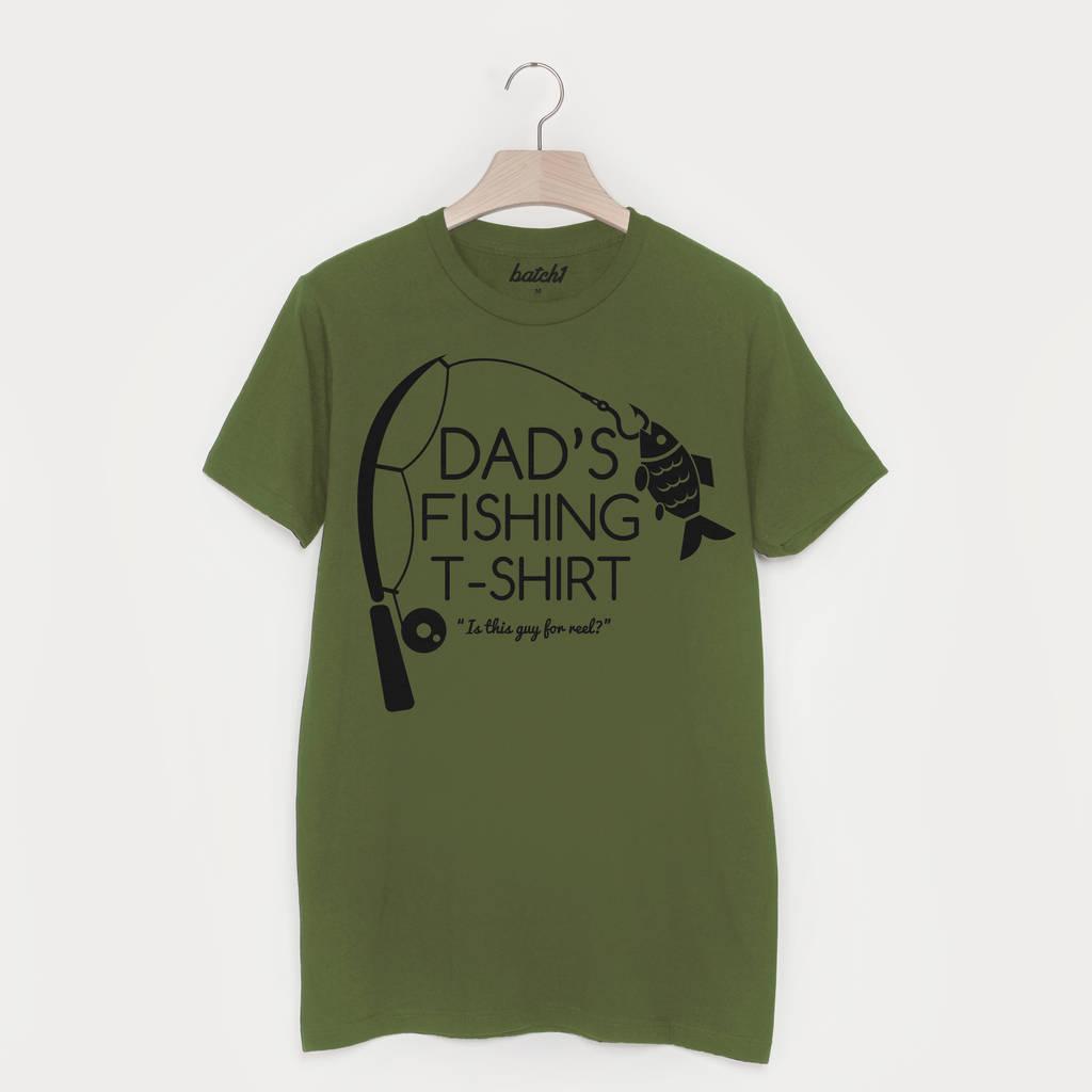 dba45c98a dad's fishing t shirt by batch1 | notonthehighstreet.com