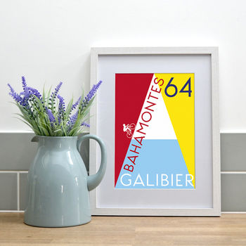 Galibier Contemporary Cycling Illustration Print
