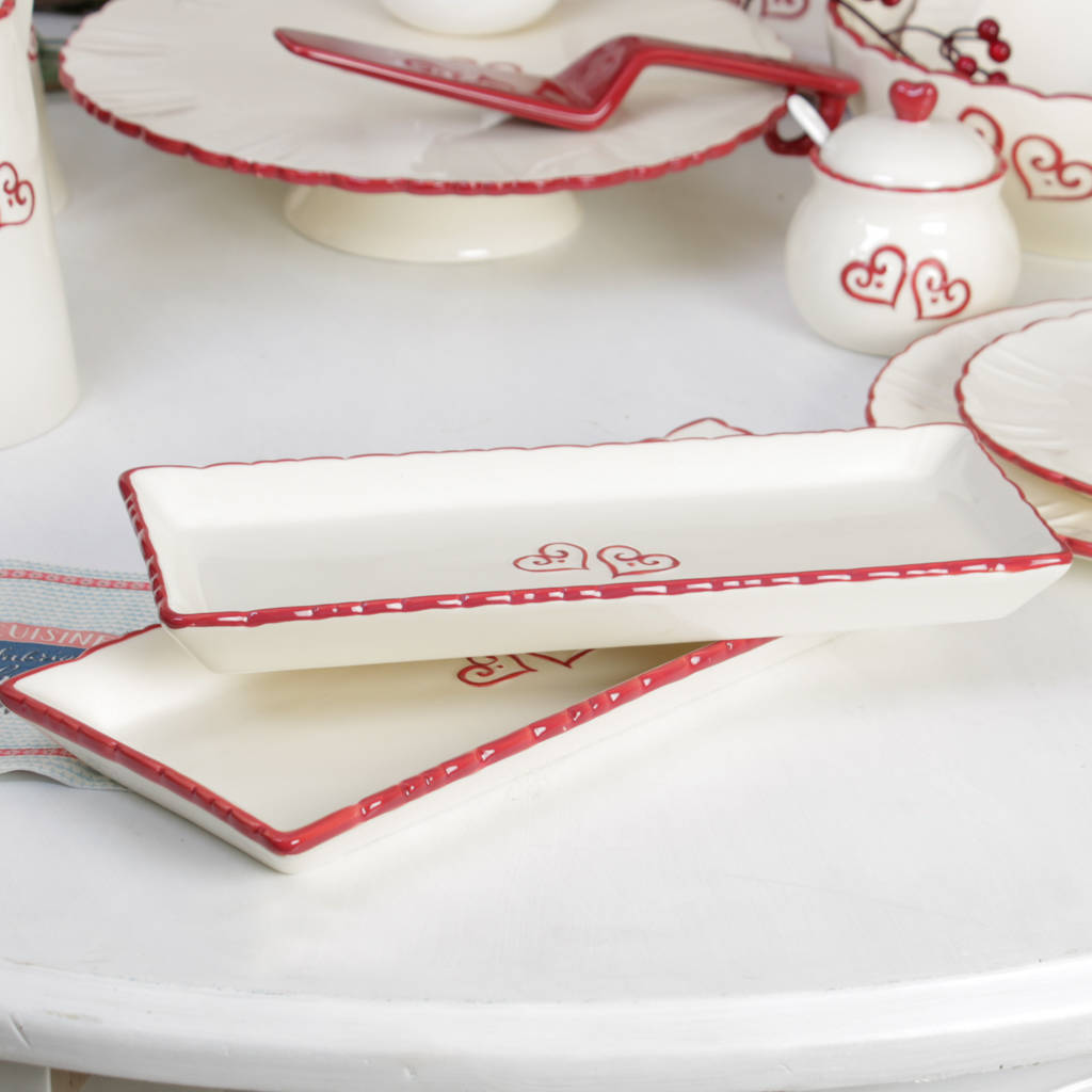 Set Of Two Blanche Maison Large Cake Serving Platters  sc 1 st  Notonthehighstreet.com & set of two blanche maison large cake serving platters by dibor ...