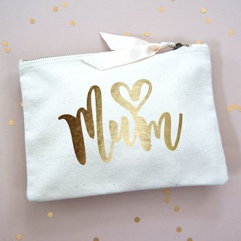 Love Heart Mum Make Up Bag