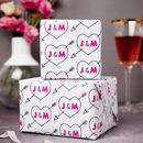 Personalised Love Heart Initial Wrapping Paper