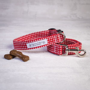 Red Dog Collar And Lead/Leash Set For Girl And Boy Dogs - dogs