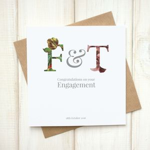 Personalised Floral Engagement Card - what's new
