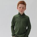 Merino Wool Kids Jumper With Shawl Collar