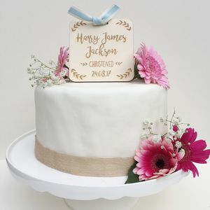 Personalised Christening, Baptism Or Naming Day Topper