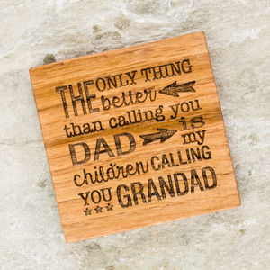 Personalised Parent And Grandparent Coaster