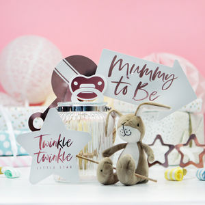 Baby Shower Rose Gold Photo Booth Props