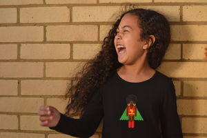 Afro Supa Superhero Long Sleeve T Shirts For Girls - t-shirts & tops