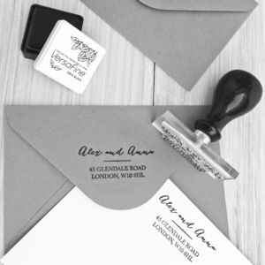 Personalised Address Stamp - weddings sale