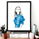 Fashion Illustration Jenny Sketch Print
