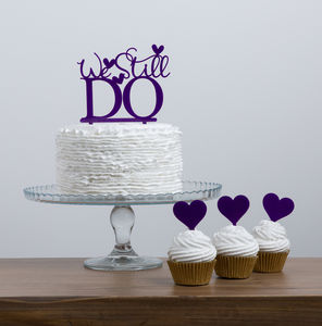 We Still Do Wedding Anniversary Renewal Cake Topper Set