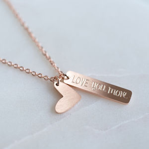 'Love You More' Necklace - children's accessories