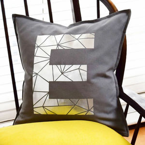 Personalised Metallic Alphabet Initial Letter Cushions