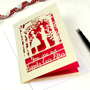 Papercut Happily Ever After Valentine's Card - valentine's cards