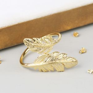 Adjustable Feather Ring - rings