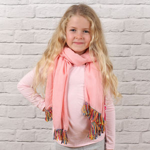 Personalised Child's Tassel Trim Scarf - children's scarves