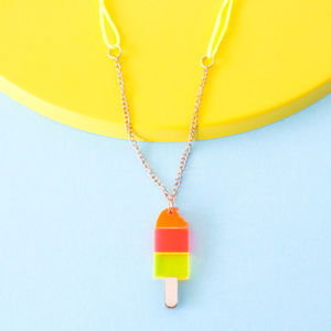 Acrylic Lolly Sweet Thing Necklace - children's jewellery