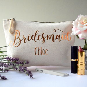 Personalised Bridesmaid Make Up Bag - bags & purses