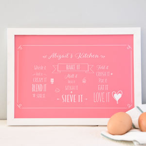 Personalised Baking A4 Print