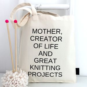 'Mother' Knitting Bag - new in home