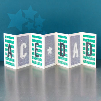 Card For Dad 'Ace Dad' Concertina Card
