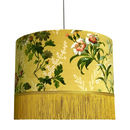 Flora X Fauna Floral Velvet Lampshade In Mustard
