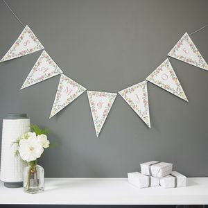 Bespoke Floral Bunting - decorative accessories