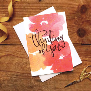 Sympathy Card / With Love 'Thinking Of You' - winter sale