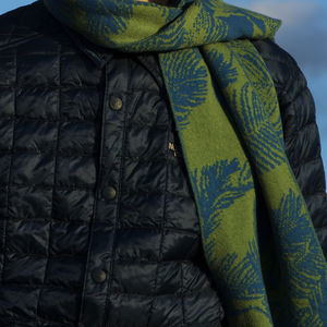 Bknit Leaves Scarf - men's accessories