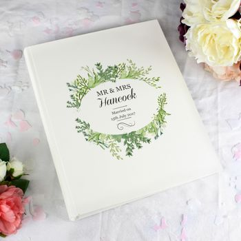 Personalised Wedding Traditional Album Gift