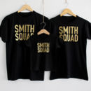 Family Personalised 'Squad' T Shirt Set