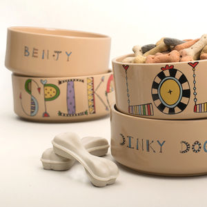 Personalised Dog Bowl - dog bowls & mats