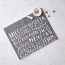 Cheese Tea Towel Charcoal