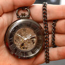 Black Open Face Personalised Pocket Watch